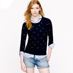 J. Crew light weight beaded sweatshirt 😍